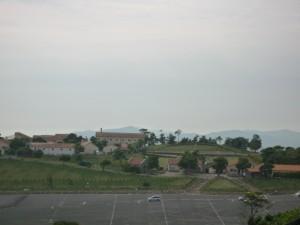 あぐりの丘を高台から撮る